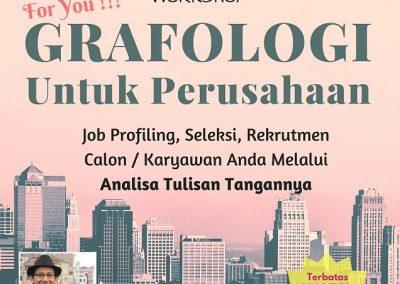 Workshop Grafologi untuk Perusahaan 28 April