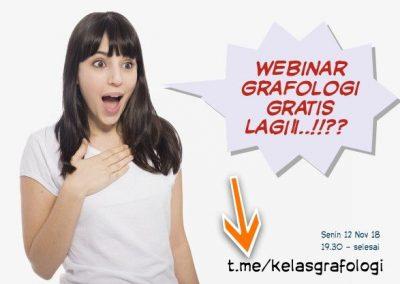 Webinar Grafologi Nov 18 - Senin 12 Nov