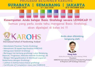 Kelas Intensif Beginner Surabaya Semarang Jakarta