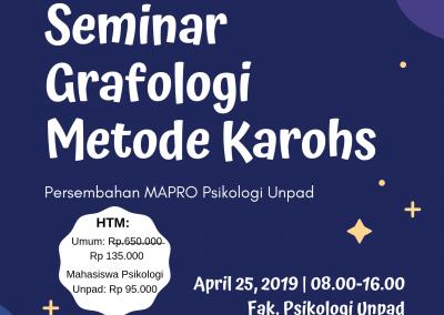 Seminar Grafologi bersama Fak. Psikologi Unpad