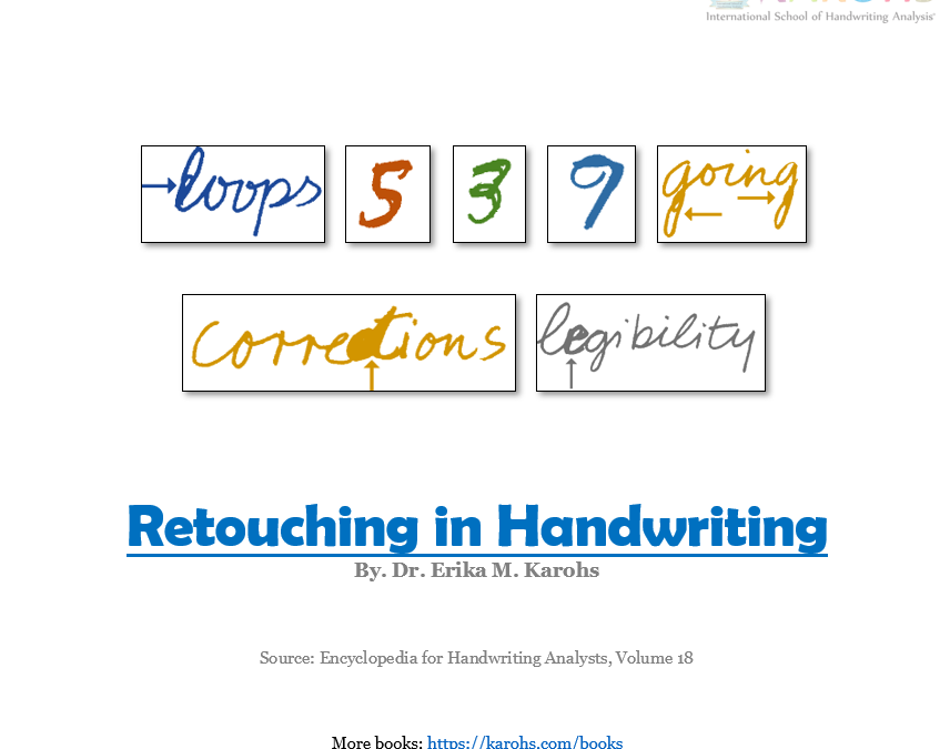 Retouching In Handwriting