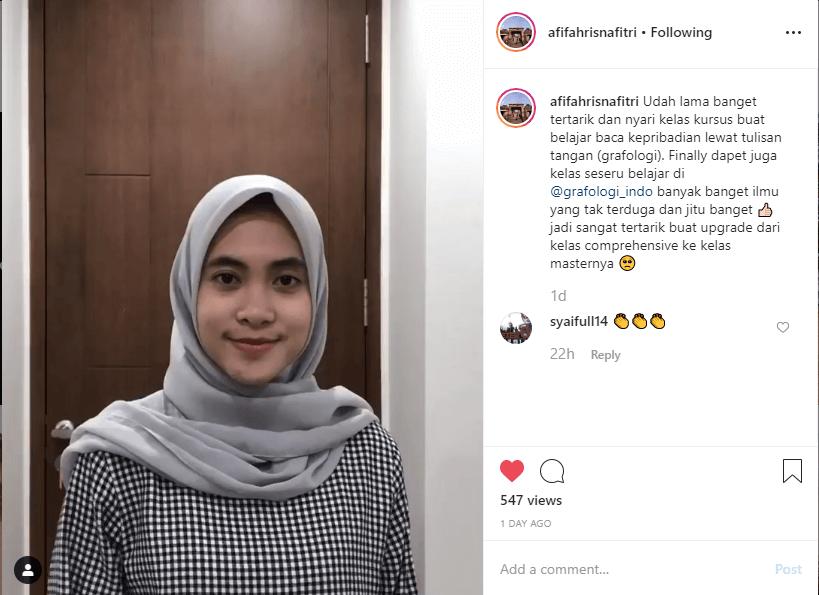 testimoni untuk graphology indonesia