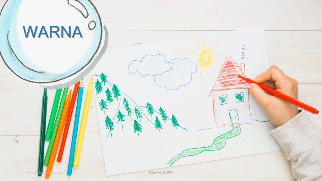Doodle test arti gambar anak arti warna