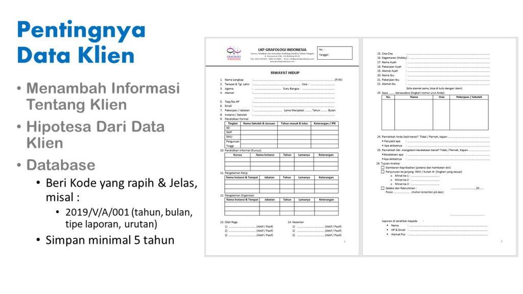 Pentingnya Data Klien & Contoh Lembar Riwayat Hidup